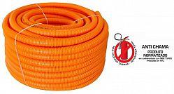 Eletroduto flexível corrugado em pvc laranja reforçado