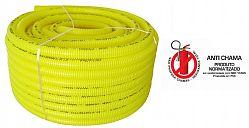 Eletroduto flexível corrugado em pvc amarelo